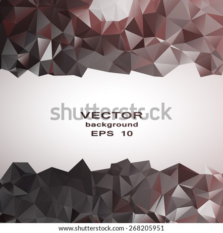 crystal abstract pattern. Business Design Templates - stock vector