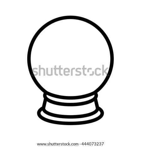 crystal ball fortune telling line art stock vector 444073237 rh shutterstock com crystal ball images clipart clipart for broken crystal ball