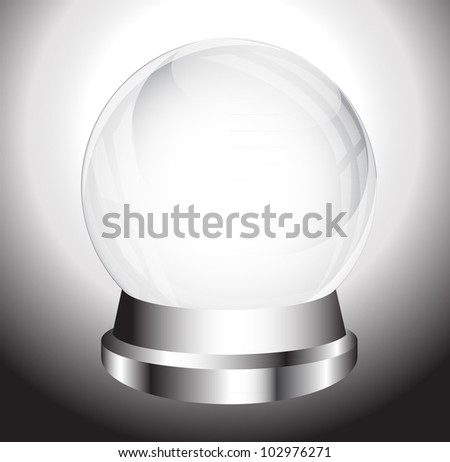 Crystal Ball - vector eps10 - stock vector