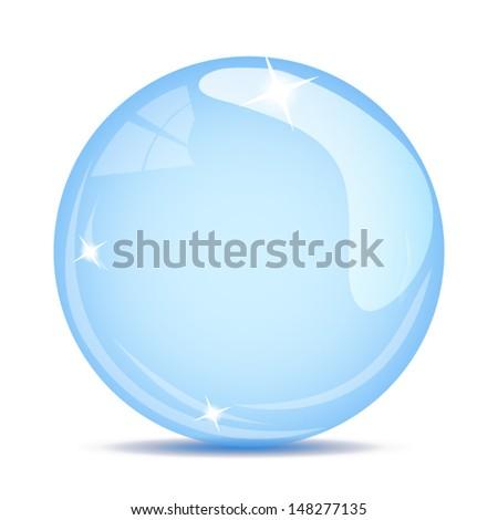 crystal blue ball - stock vector