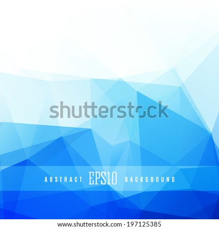 Crystal blue triangle colorful abstract design background template - stock vector