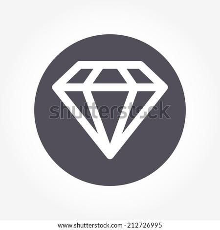 crystal diamond icon vector - stock vector