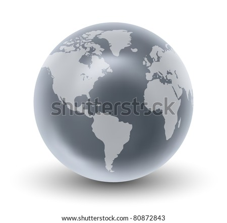 Crystal Earth Globe ( EPS10 Vector) - stock vector