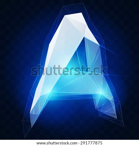 Crystal ise alphabet. Vector type EPS 10 - stock vector