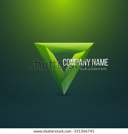 Crystal Logo Design. Abstract Polygon Triangle. Colorful Icon. Vector Illustration. - stock vector