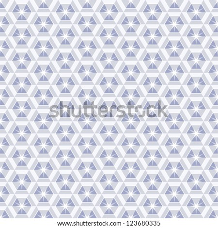 Crystal seamless pattern, abstract vector background - stock vector