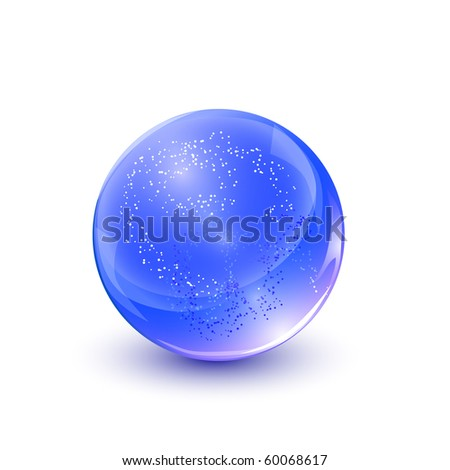Crystal sphere, vector illustration. - stock vector