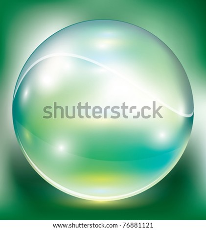 crystal sphere, vector illustration