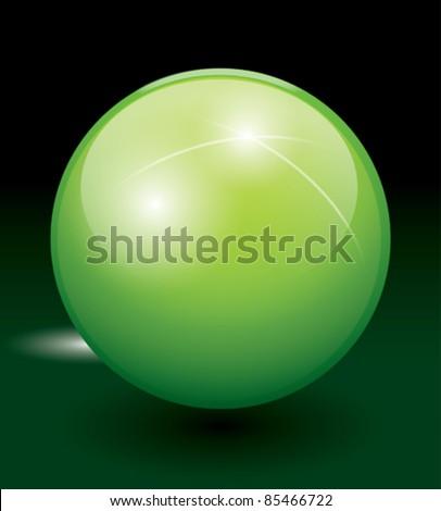 crystal sphere, vector illustration - stock vector