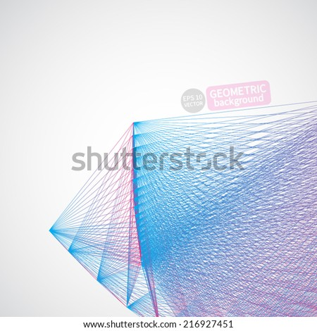 Crystal structure and Communication Background. Geometric Vector.