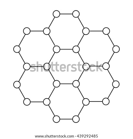 Crystal structure icon in outline style - stock vector