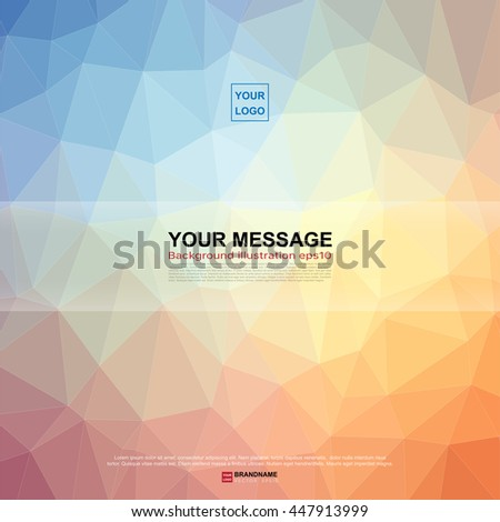 Crystal style background ,Vector eps10 - stock vector