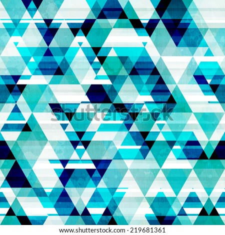 crystal triangle seamless pattern - stock vector