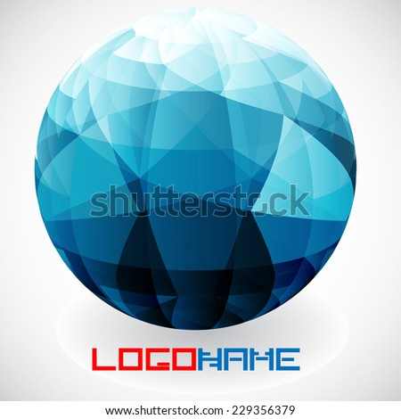 Crystal Vector Abstract Icon or Logo Design in Circle Form for your Company.