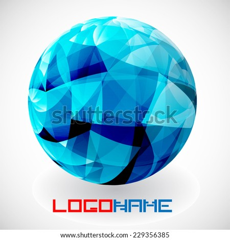 Crystal Vector Abstract Icon or Logo Design in Circle Form for your Company.  - stock vector