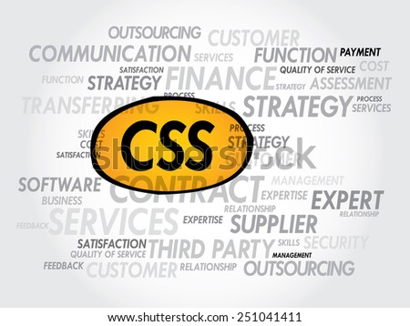 CSS word cloud, business concept - stock vector