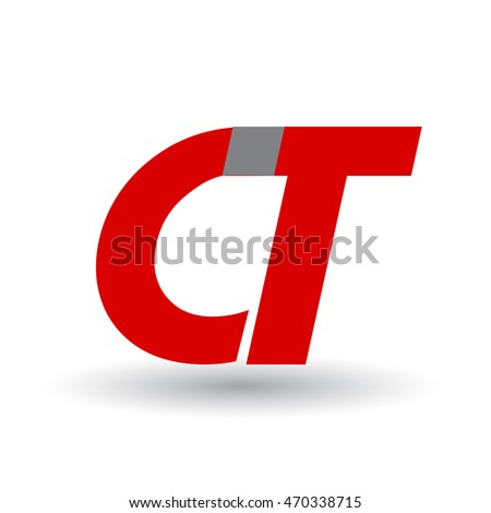 CT company linked letter logo