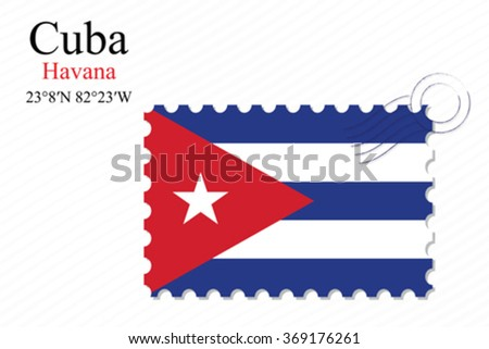 cuba design over stripy background, abstract vector art illustration, image contains transparency - stock vector