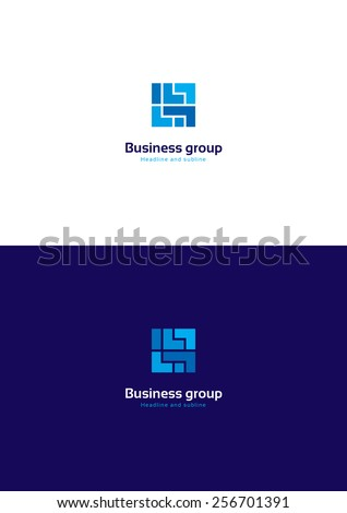 Cube abstract logo template. - stock vector