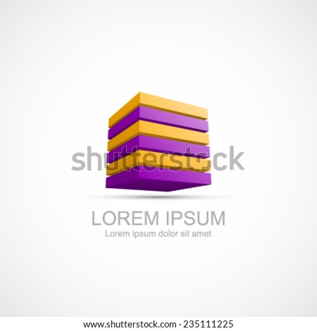 Cube icon. Easy to change color. - stock vector