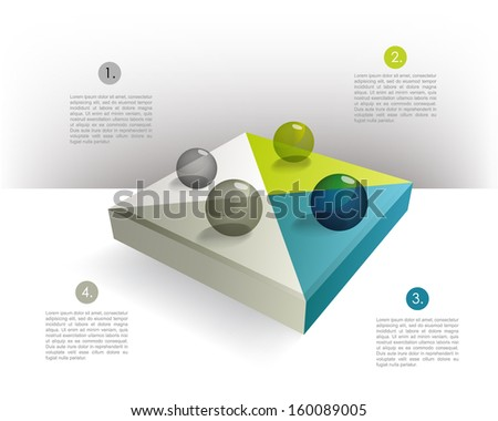 Cube infographics template. - stock vector