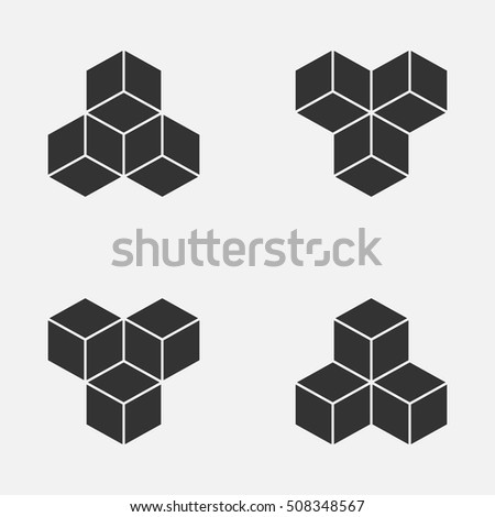 Cube Isometric Logo Concept 3 D Vector Stock Vector 508348567 ...