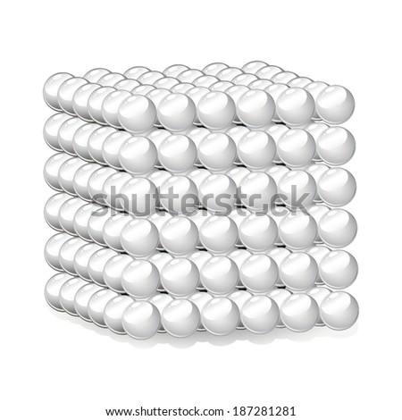 Cube of Spheres vector - stock vector