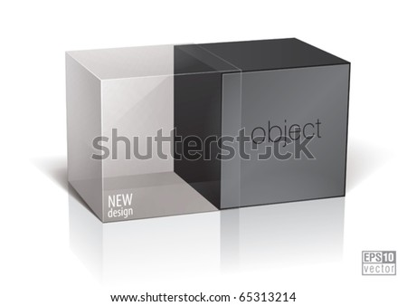 Cube package for your design, eps10 vector - stock vector
