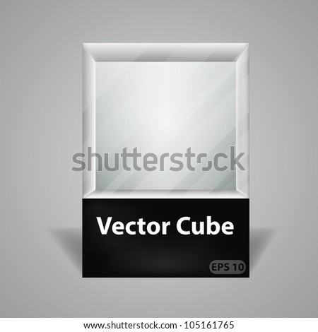 Cube transparent package for your object, eps10 vector - stock vector