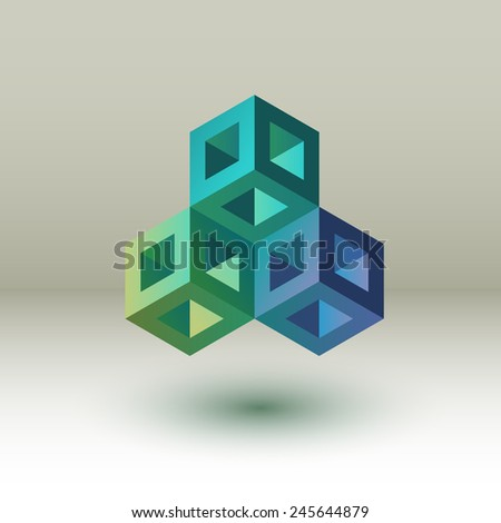 Cubes, eps10 vector - stock vector