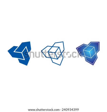 Cubes isolated on white. Vector Illustration - stock vector