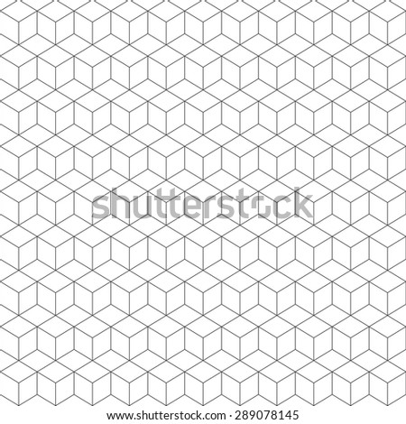 cubes vector pattern. Abstract illustration. - stock vector