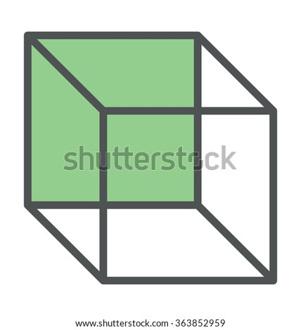 Cubic Box Bold Icon Illustration - stock vector