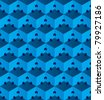 Cubic pattern illusion. Vector illustration. - stock vector