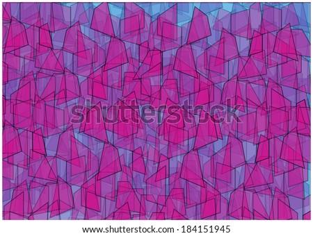 cubist vector background - stock vector