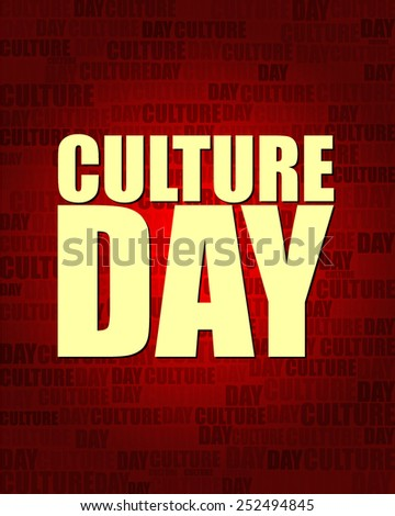 Culture Day with same text on red gradient background.