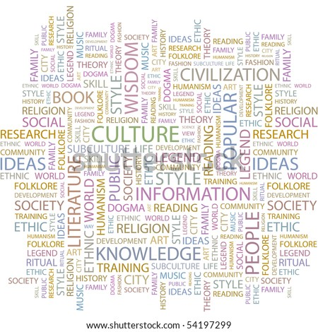 CULTURE. Word collage on white background. Vector illustration. - stock vector