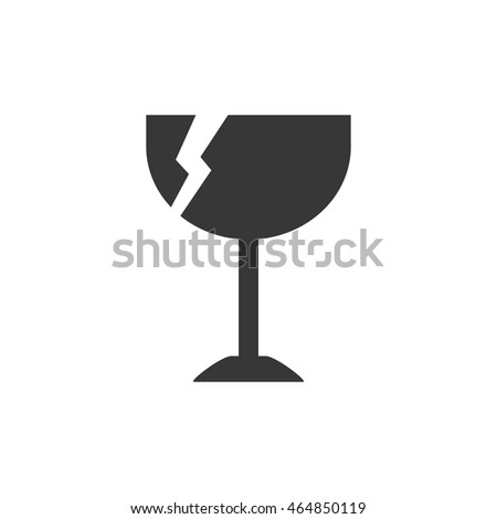 cup broken delivery shipping logistic security icon. Isolated and flat illustration. Vector graphic