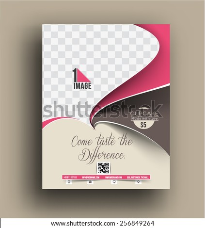 Cup cake shop front flyer template stock vector hd royalty free cup cake shop front flyer template reheart Images