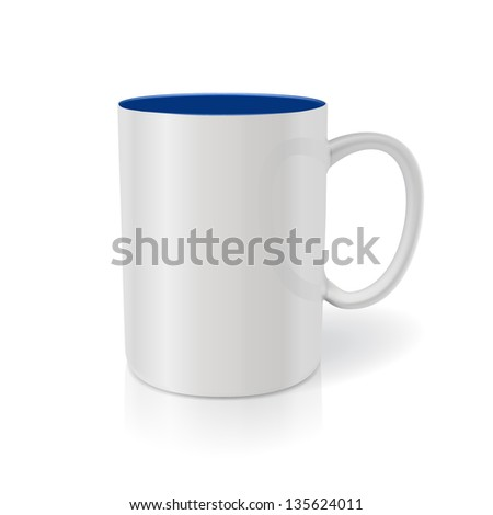 Cup  for advertising and branding - stock vector
