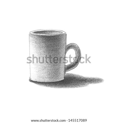 Cup. Hand drawn. Vector eps8 - stock vector