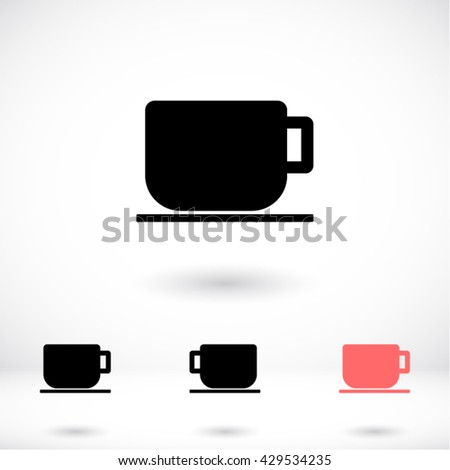 Cup Icon, cup icon flat, cup icon picture, cup icon vector, cup icon EPS10, cup icon graphic, cup icon object, cup icon JPEG, cup icon picture, cup icon image, cup icon drawing, cup icon illustration - stock vector