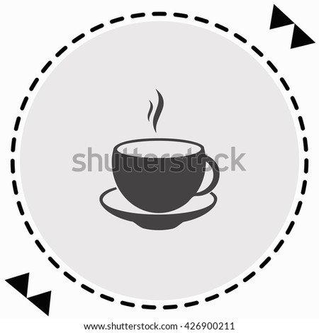 Cup icon Flat Design. Isolated Illustration.