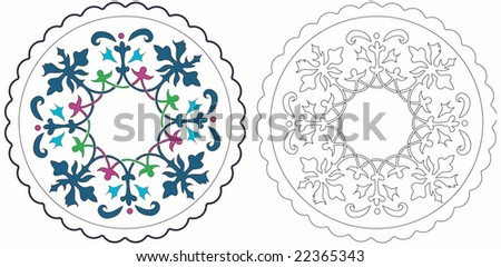 Cup mat. Copy space in center. - stock vector