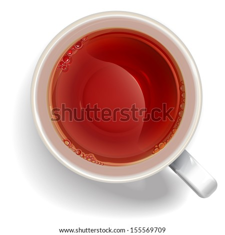 Cup of black tea. illustration vector. - stock vector