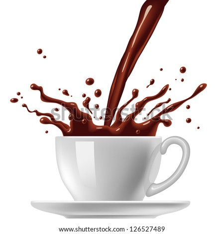 Cup of chocolate - stock vector