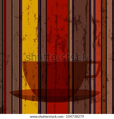 cup of coffee, abstract background, design template,copy space - stock vector