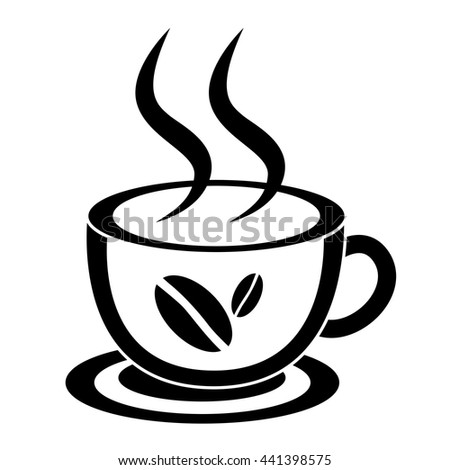 Cup of coffee. Drawings ceramic mug. - stock vector