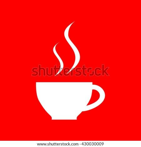 Cup of coffee sign - stock vector