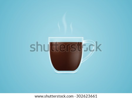Cup of coffee.Vector illustration - stock vector